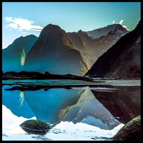 From Steven Smith's FIORDLAND NATIONAL PARK Collection. Smith's renowned photography is crystal clear, beautifully lit, and evocative of all that is precious about a Creator's touch. His photos have the capacity to touch the very core of our spiritual beings.  ( Selah )