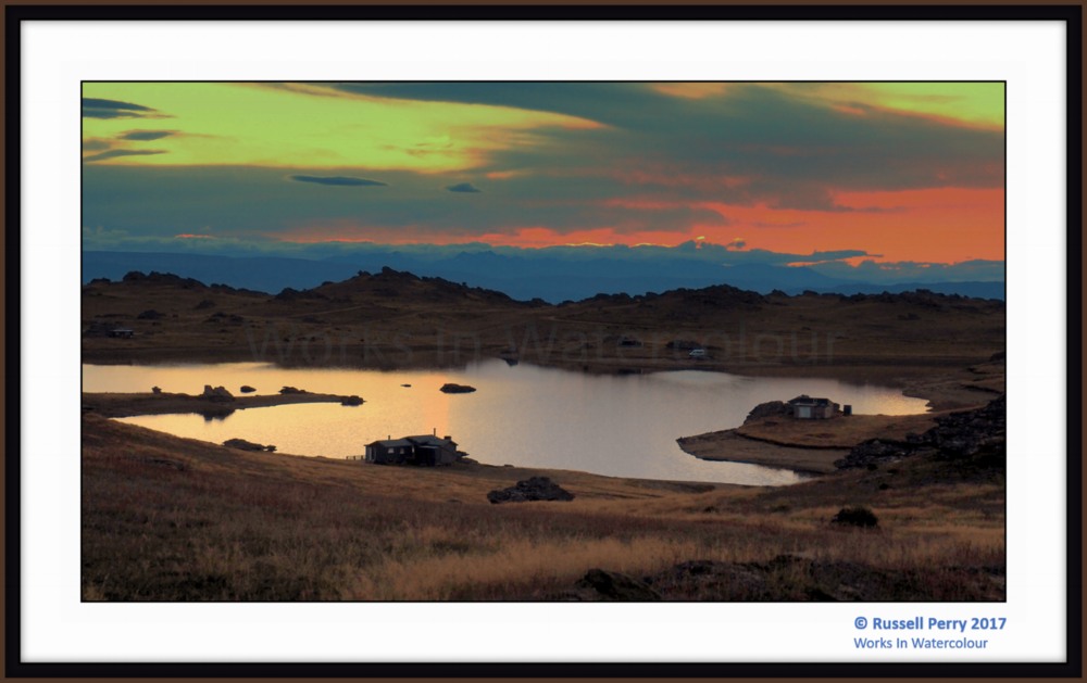 """Poolburn sunset""  -  late afternoon above the poolburn reservoir, central otago, new zealand"