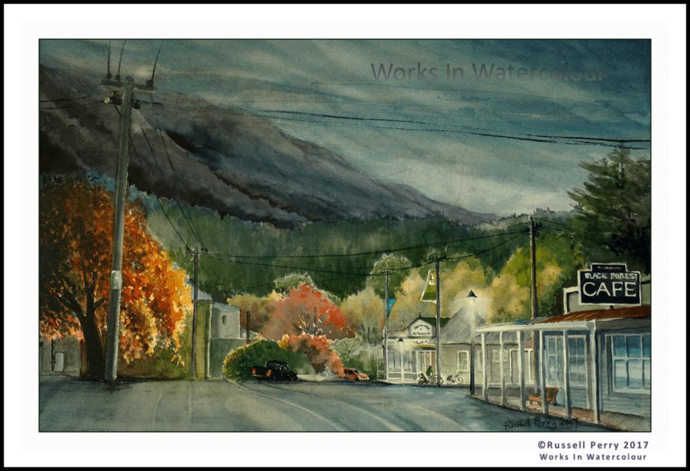 """RUSH HOUR"" - Naseby, Otago, NZ. Original watercolour."