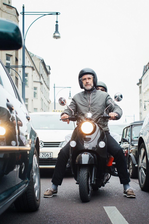 unu electric scooter driver Lothar Grassinger
