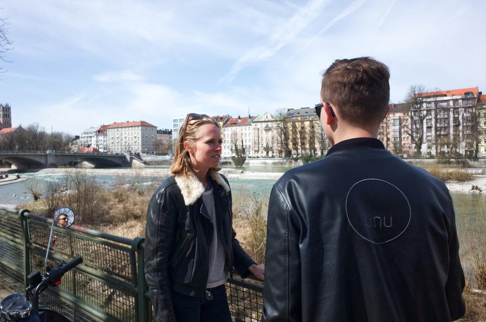 Treffen mit Valentina Harrendorf, unser zweiter Münchner Pionier.