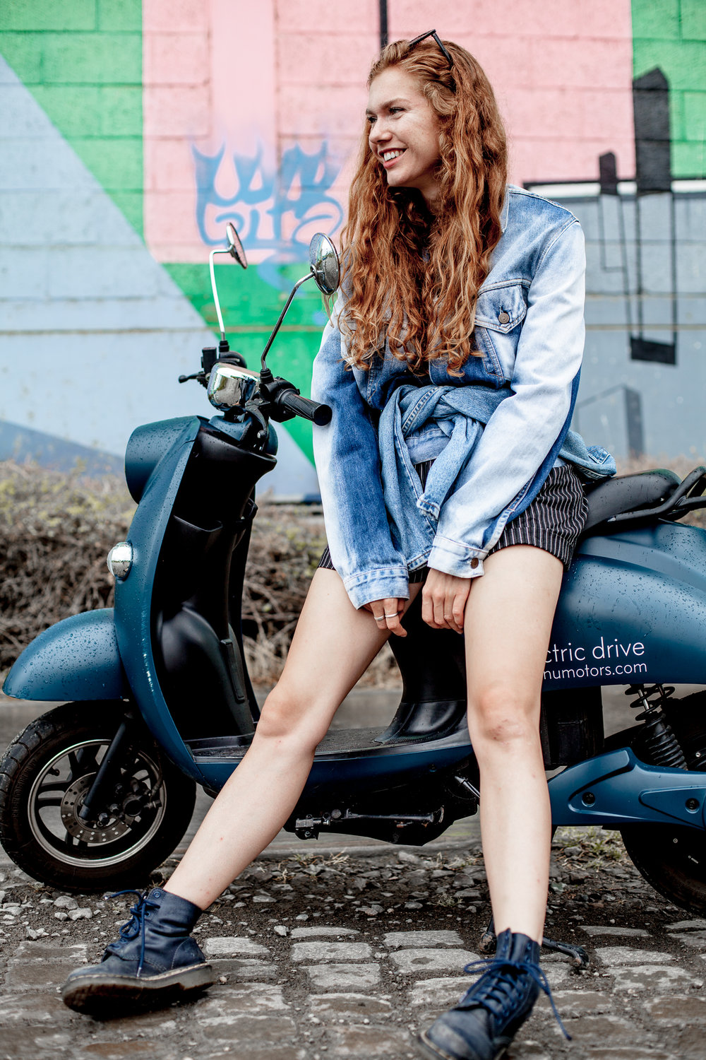 Photos taken during a shoot by VinoKilo with the navy unu Scooter