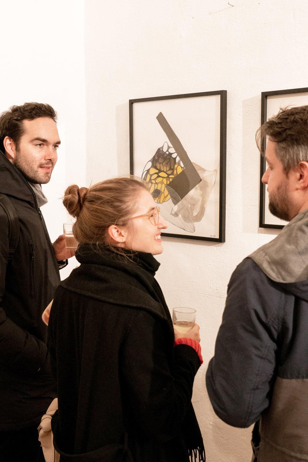 Drei unu Teammitglieder, die die Ausstellung besucht haben: Pascal, einer unserer drei Gründer, Nike, unu Pioneer & Sales Manager und Robert, Director für Digitale Produkte