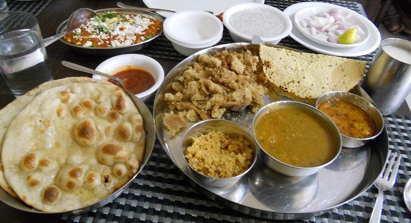 My lunch at Udaipur!