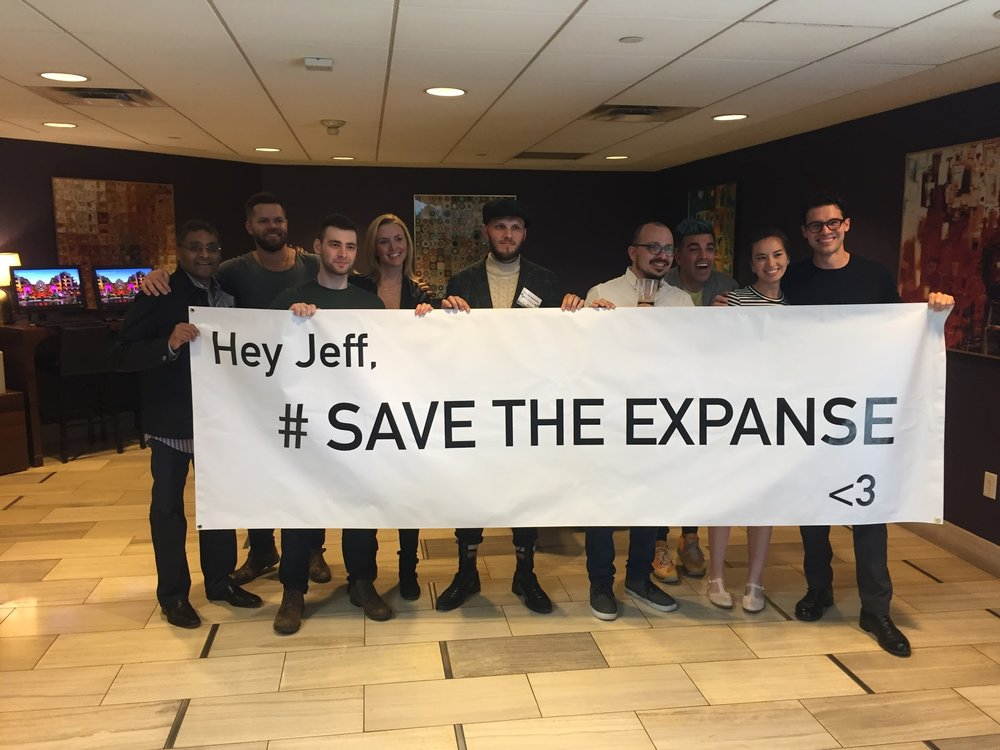 Me and two other fans flew to LA to convince Jeff Bezos personally to save our show and even met some of the cast and crew.
