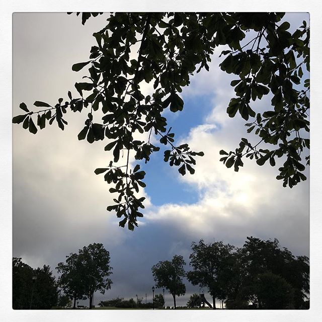 "9.17.18 ~ A break in the clouds. It's so good to know all that blue sky is always behind the storms of the moment. I'm trusting in the blue sky and taking this wisdom from @tatiannatarot into the week ahead: ""Worry is a prayer for things you don't want."" #wordstoliveby Wishing all of you a happy Monday! 💕"