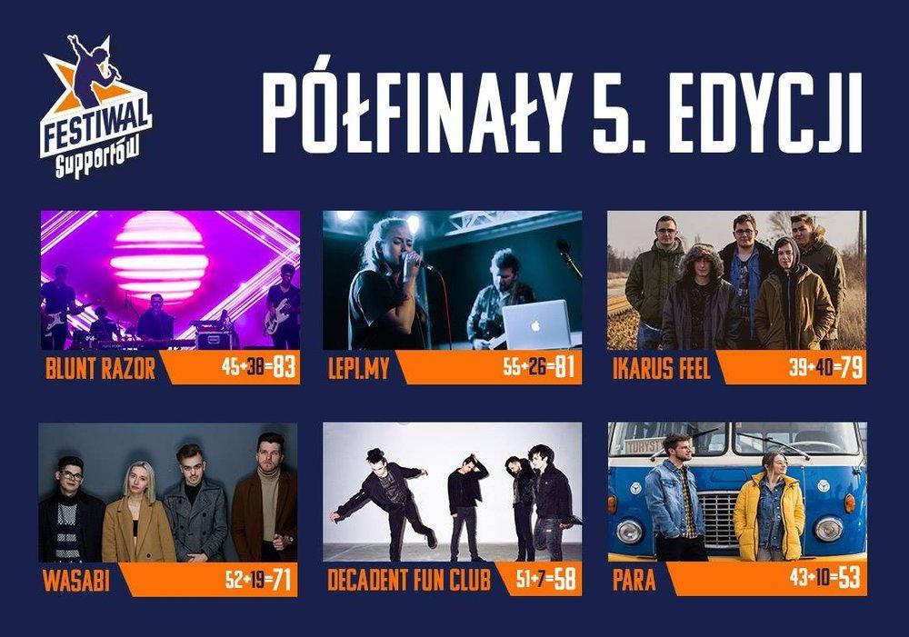 Wyniki półfinałów 5. edycji Festiwalu Supportów