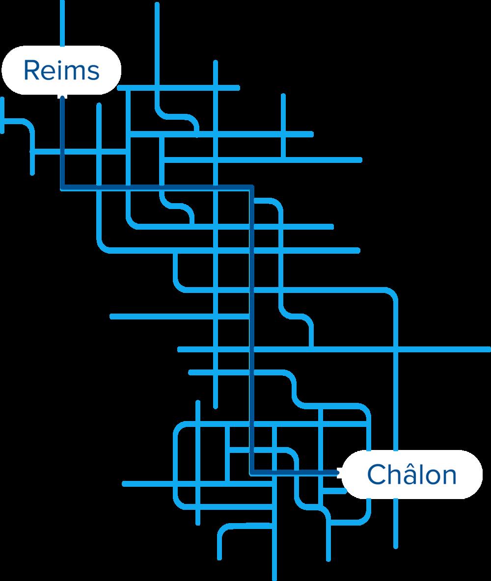 Des allers retours seront disponibles tous les jours entre les principaux points de rendez vous de Reims et Châlons en champagne.Gare SNCF, Place Msgr Tissier, Zones universitaires, Préfecture, Parc Champagne, Croix rouge... -