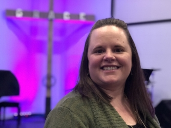 """Hi! I'm Lisa, also lovingly (I think!) known around the office as the Office Commander. My husband, Heath, and I have been married for 10 years and are small group leaders. I have been at Grace since we were married and in my current position since 2012. Along with managing the day to day church office, I also take care of the financial side of things, and lead our women's ministry, """"Ladies of Grace"""". I LOVE what I do! In my spare time (what's that?) I enjoy spending time with my hubby and our nieces & nephews, grabbing lunch or coffee with friends, reading, and traveling!"""