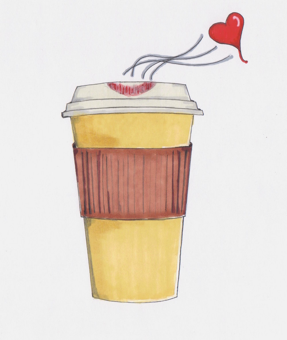BhavyJ Designs original Luv Coffee illustration