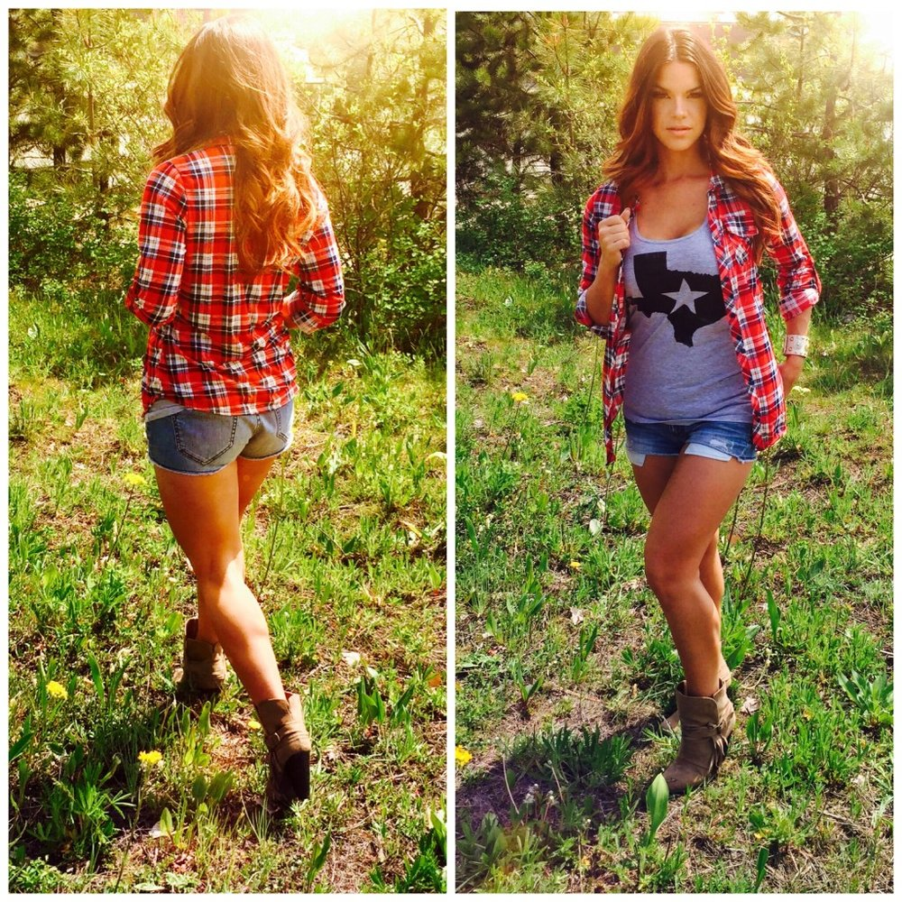 Wear some cut-offs, boots and tee and don't forget the bigger the hair, the better and you're good to go in  Texas .