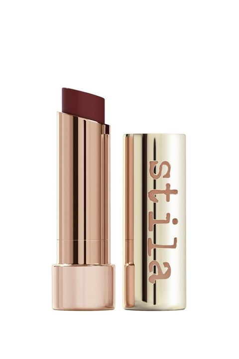 Add a little tingle of peppermint to your vampy look. Stila Color Balm for $22.