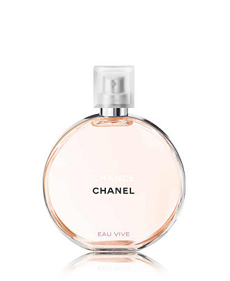 Chance by Chanel has taken the #1 spot this year in sales for perfumes.  Macy's  - 5oz. $130.   Vibrant floral notes, long lasting scent with blood orange, grapefruit, jasmine, cedar and iris notes.