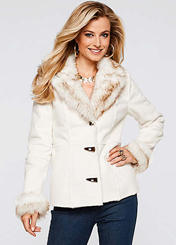 Venus Shearling Faux Trim Coat  $90.