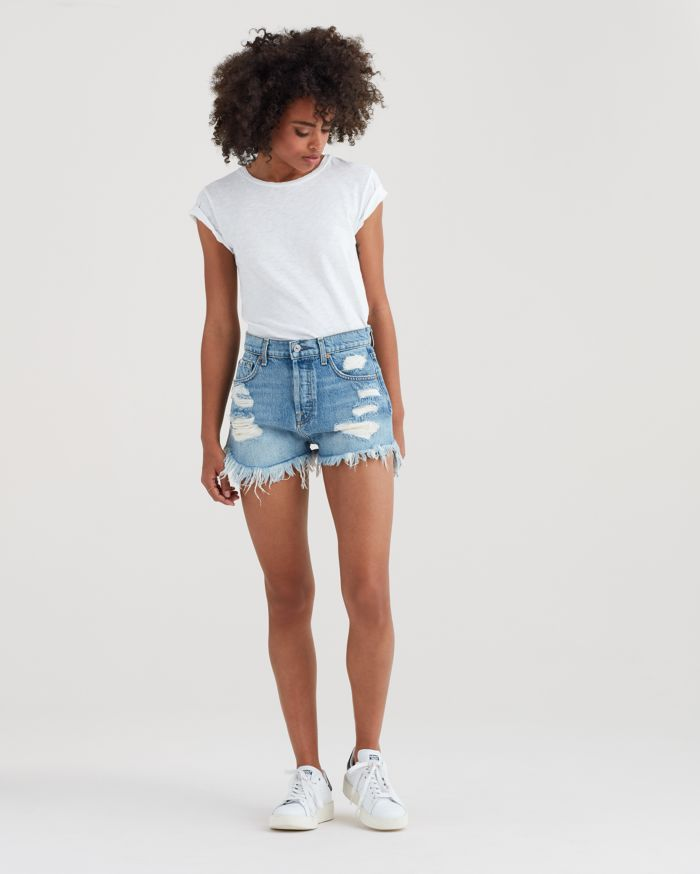 7 Denim High Waisted Cut Off Vintage Shorts  $179