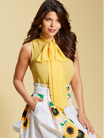 New York & Company Isabella Bow Blouse  $33