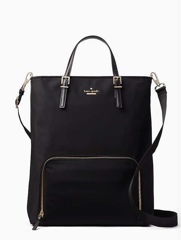 Convertible Laptop Backpack Kate Spade - How awesome! Your boring laptop bag can now be this cute backpack. It is easy to carry, has tons of space and multiple straps for however you like for $228.