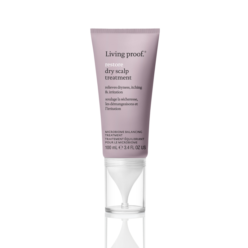 Living Proof Restore Dry Scalp - Living Proof has done it again, this time, with a leave-in treatment that both hydrates and soothes a dry, itchy scalp. The secret? A probiotic complex that promises to balance the levels of all the microorganisms on your scalp (both good and bad), plus hydrating hyaluronic acid. Also important: It's fast absorbing, and doesn't leave behind any residue.$32