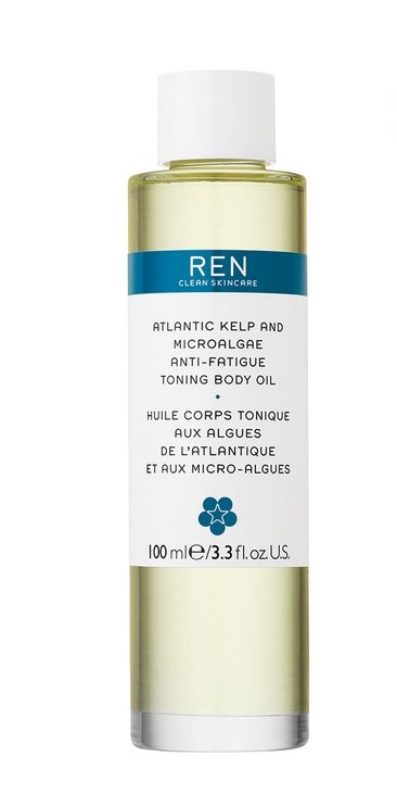 Ren Atlantic Kelp and Microalgae Anti-Fatigue Toning Body Oil - The omega-rich algae and soothing minerals lock moisture in place to restore elasticity and give skin the smoothness of sea glass.$50