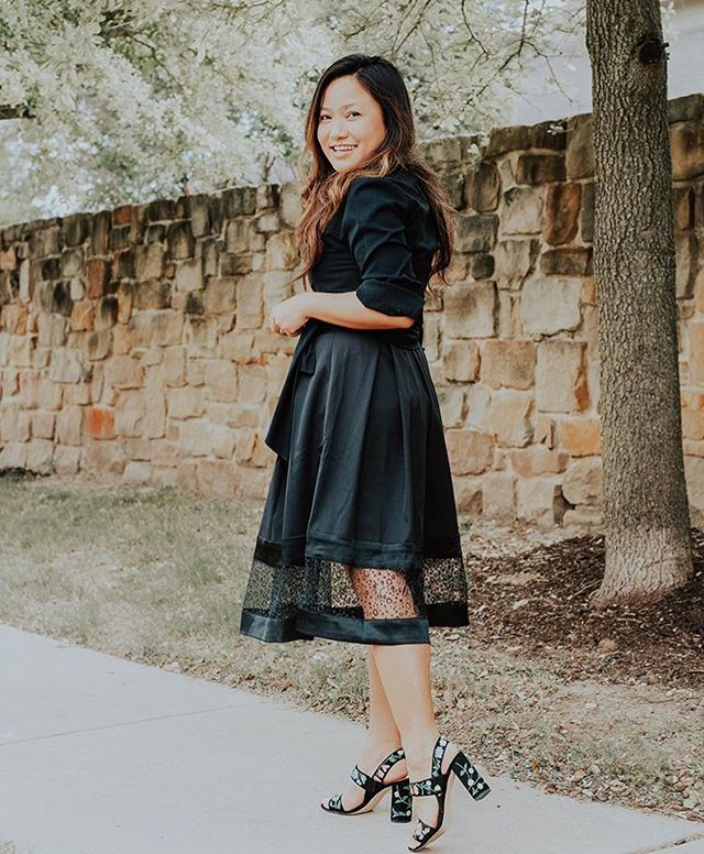 Loving how @mypetitetheory looks in our 'Kareena' skirt! Made from a beautiful satin and featuring a glittery tulle border, it's exceedingly versatile and easy to wear. Click to shop and grab it on SALE! . . . #bhavyjdesigns, #littleblackskirt, #womeninhealthcare, #fashionentrepreneur, #madeinchicago, #madeintheusa, #ethicalclothing, #chicagodesigner, #sustainablefashion, #discoverunder1k, #ltkworkwear, #wiwtoday, #femininestyle, #chicagofashion, #9to5chic, #corporatewear, #chicworkchick, #lawyerfashion, #girlswhowander, #workfashion, #ootdstyle, #classystyle, #ootdinspo, #fashiondesigner, #bossladymindset, #bossgirlbloggers, #chicagoblogger, #chicagoinfluencer, #fashionbloggerstyle, #newstyleblog