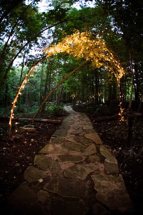 Lighting and floral designs