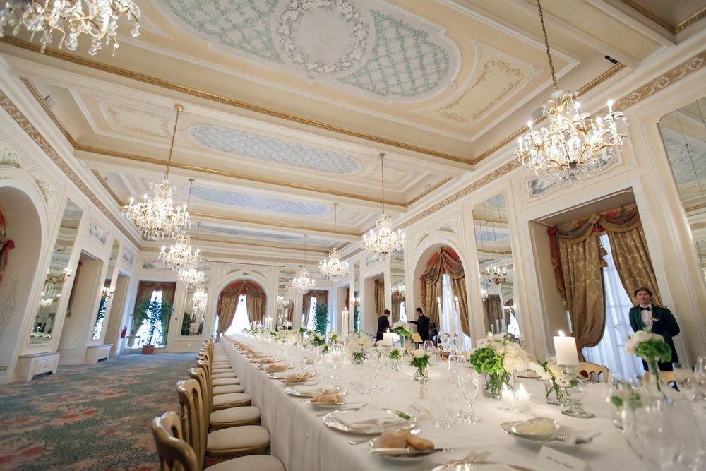 The tablescapes in the grand hall for the guests