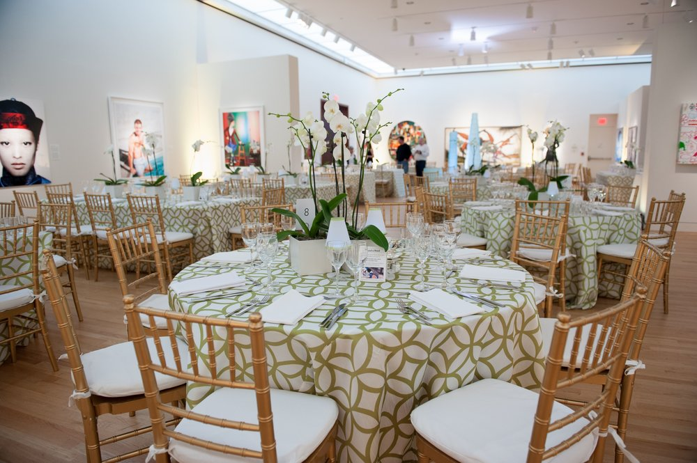Tables at the NBMAA Art Party of the Year