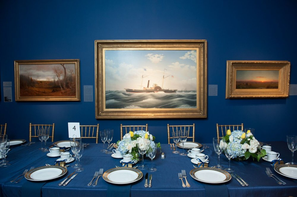 Tables at the NBMAA Art Party of the Year 2015