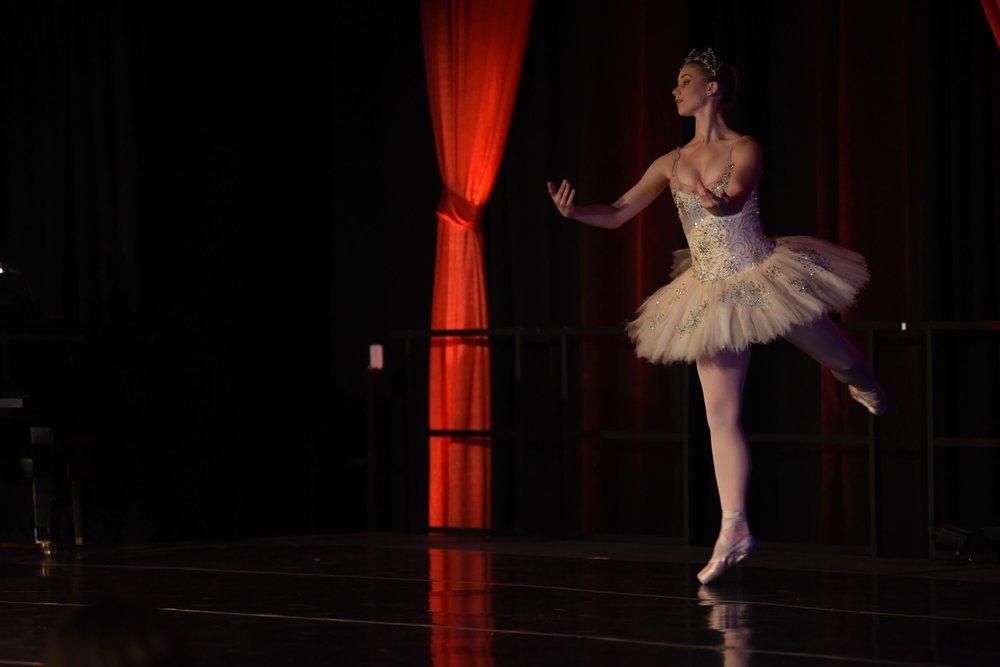 Student ballet dancer from the University of Hartford Hartt School Gala