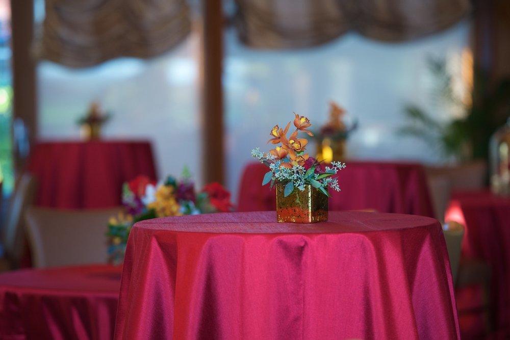Floral arrangements and center pieces