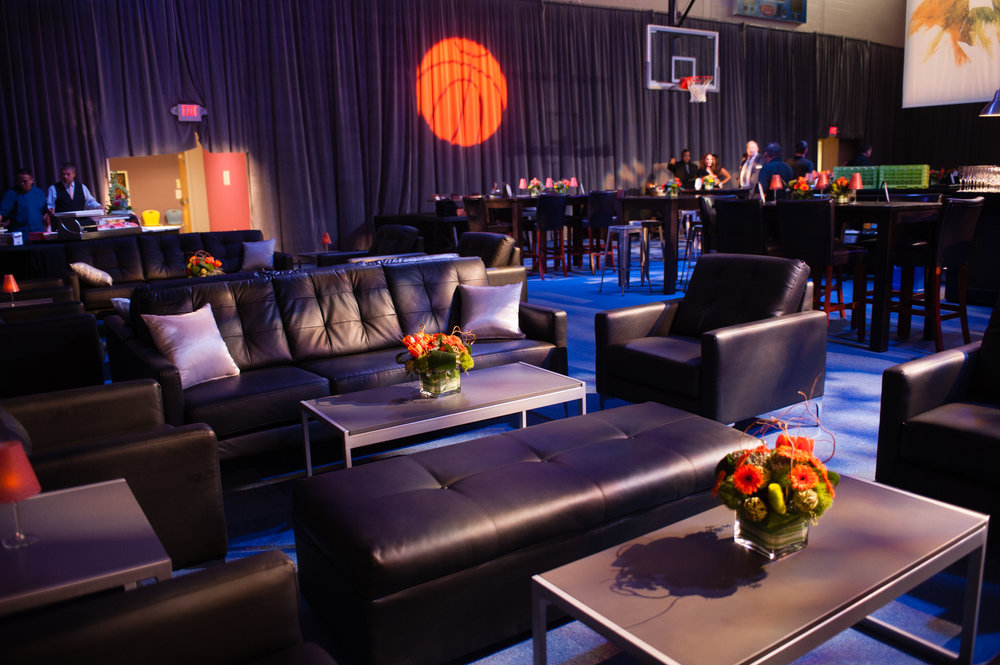 Furniture details & layout from client's Bar Mitzvah in West Hartford, CT