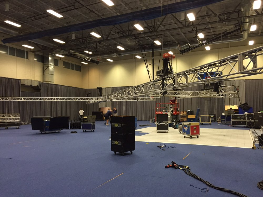Behind the scenes as we set up this massive Bar Mitzvah in West Hartford