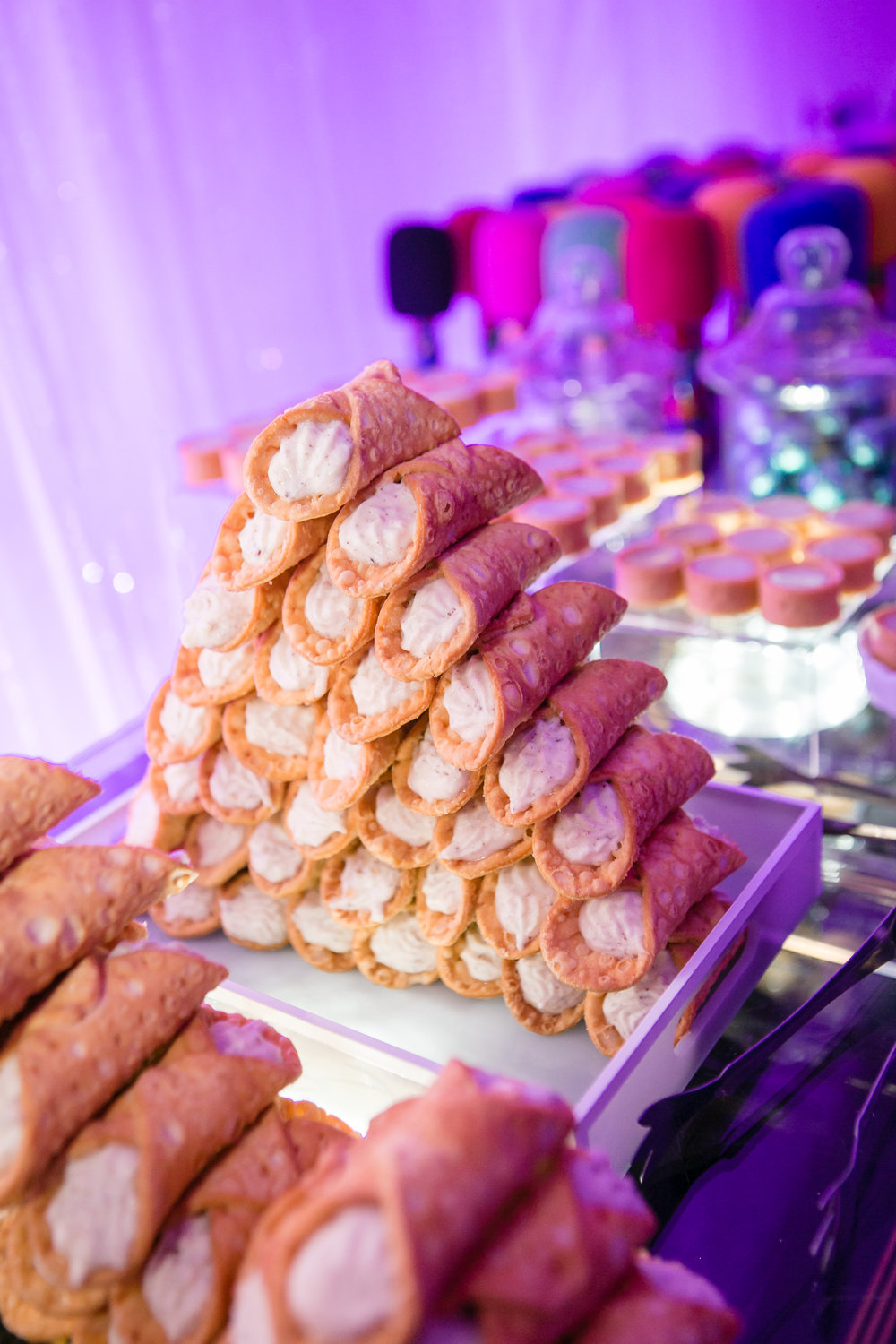Finger food tower at client bat mitzvah