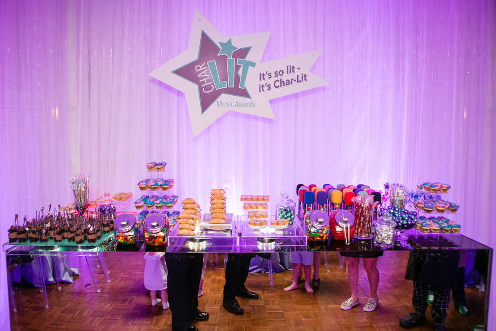 The colorful food scene at this clients Bat Mitzvah