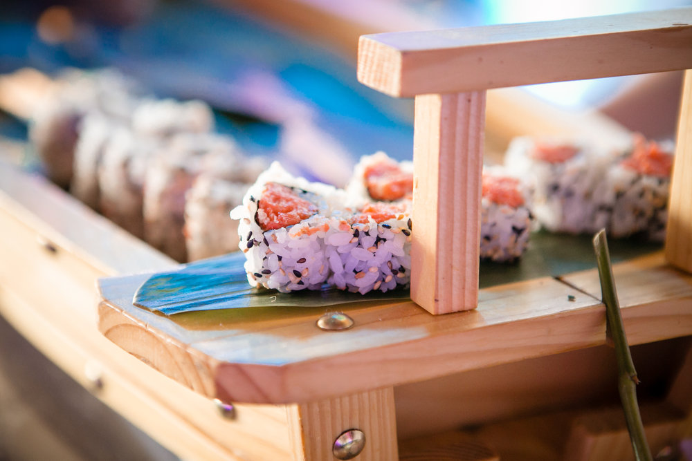 Sushi rolls for happy guests of this client's Bat Mitzvah
