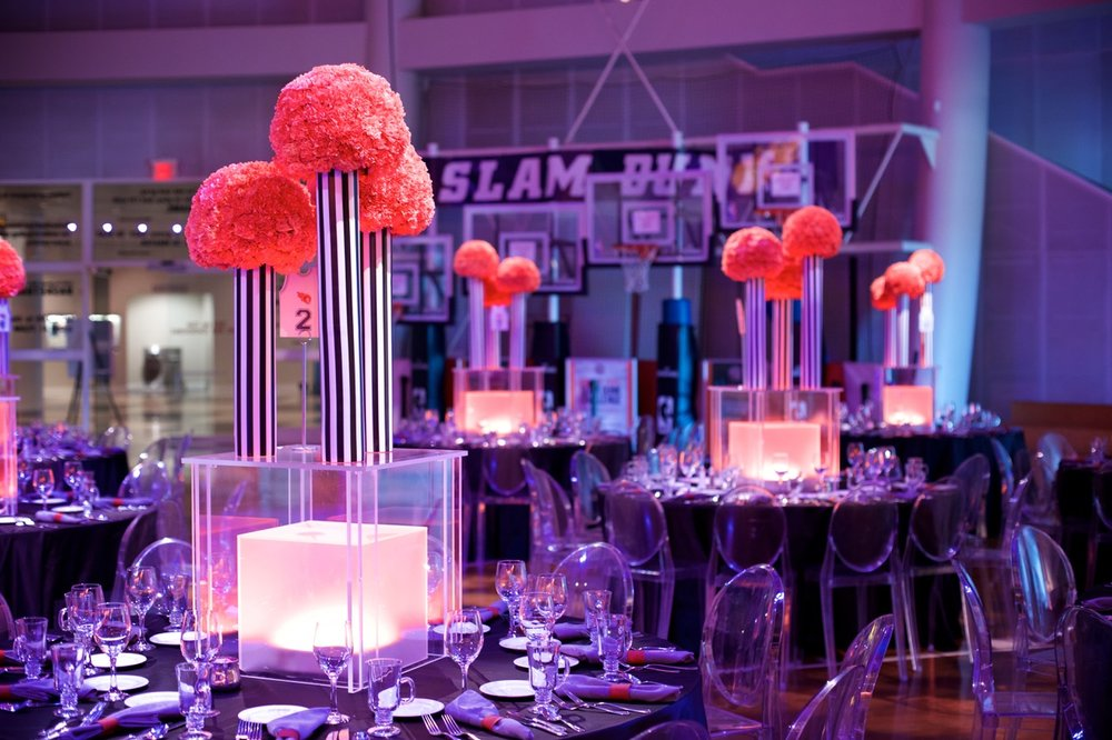 Floral details, Bar Mitzvah at the Basketball Hall of Fame