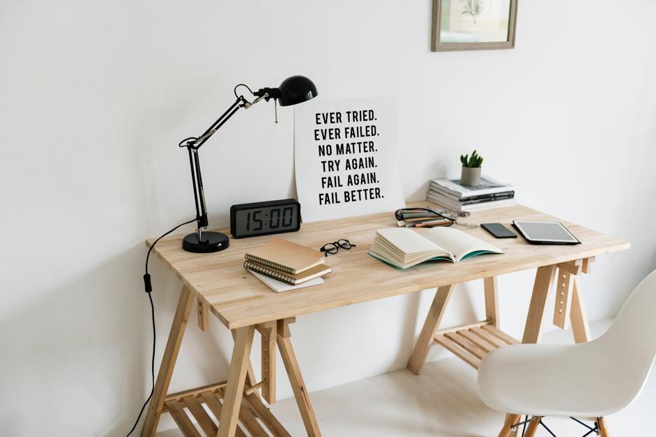 Een goede werkplek helpt bij het maken van huiswerk