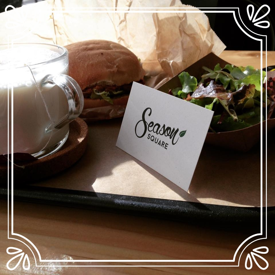 jackfruit burger awaits - at season square