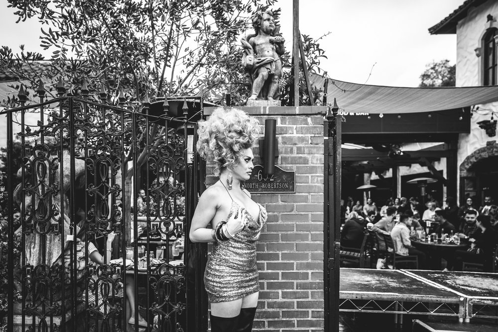 Drag queen prepares to go on stage at The Abbey in West Hollywood