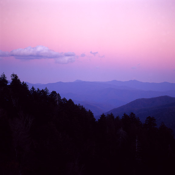 Purple Sky Smoky Mountains