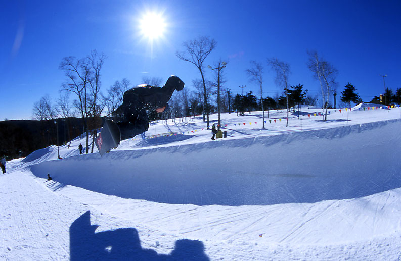 Snowboarding Half Pipe Competition