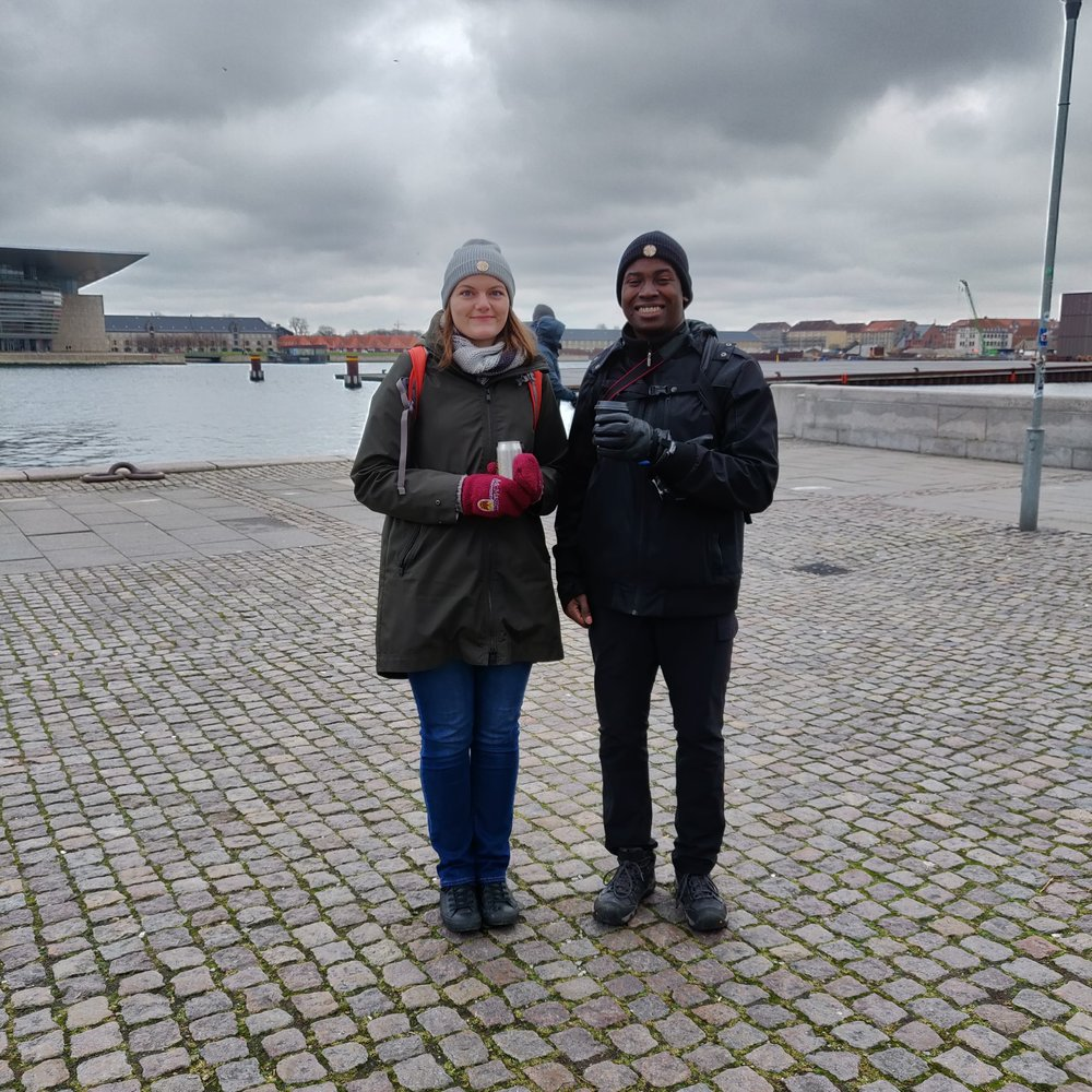 Verdun owners members (and frequent models) Kevin and Lindsay on the banks of Copenhagen, Denmark.