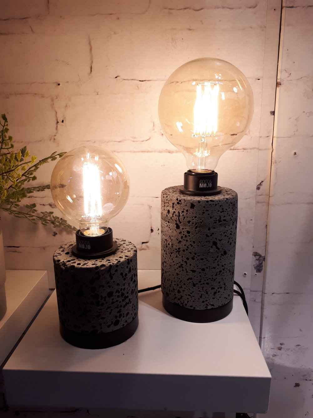 Lava stone table lamps! An example of amazing lighting options.