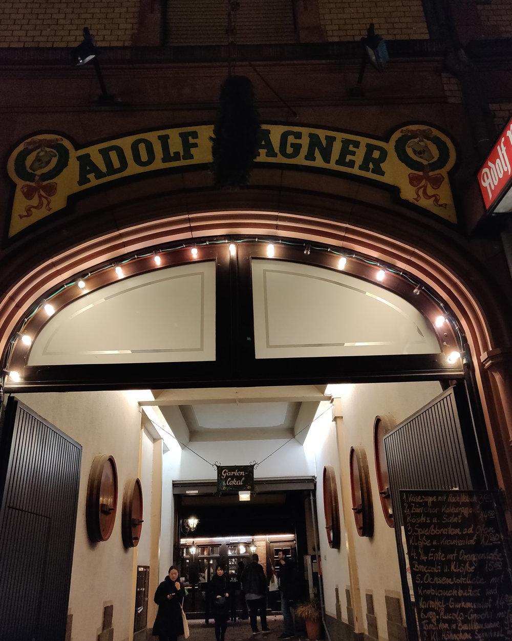 Adolf Wagner's, arguably best schnitzel in Frankfurt!