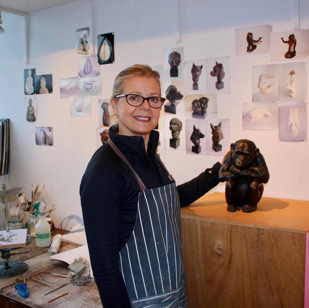 Jilly Vainer Studio 514 This upcoming sculptor plays with clay to hand build figurative forms that are then finished with glaze, resin and bronze. Specialising in wildlife and animals - current works are featured at Henley Regatta private members club and by the Society of Wildlife Artist's at Mall Galleries.