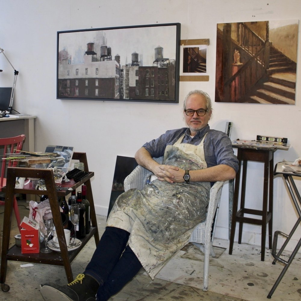 Tim Goffe Studio 307 An accomplished and collected oil painter, winning the Gordan Hulson Memorial Prize for Draughtmanship, Variety and Exploration and known for urban and industrial scenes – seeking beauty in the ordinary and giving meaning to the banal.