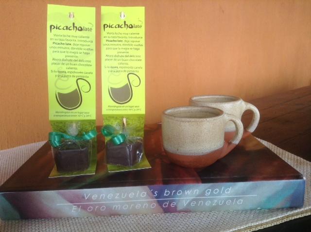 Picacholate para una taza de chocolate caliente