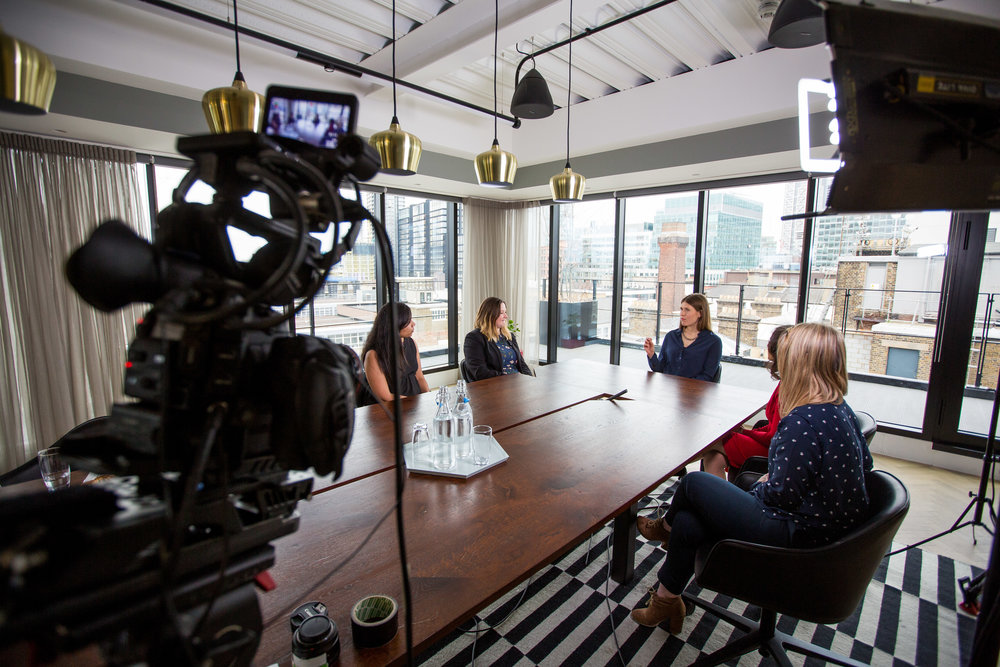 50 top Women in Tech at Rise London Magdalena Kron, Sonal Xa Shah, Snehal Malhotra, Gemma Trebble, Charlotte Haines for SpeakMedia Picture by Michael Crabtree Phone 07976 251 824 email crabtreemi@hotmail.com