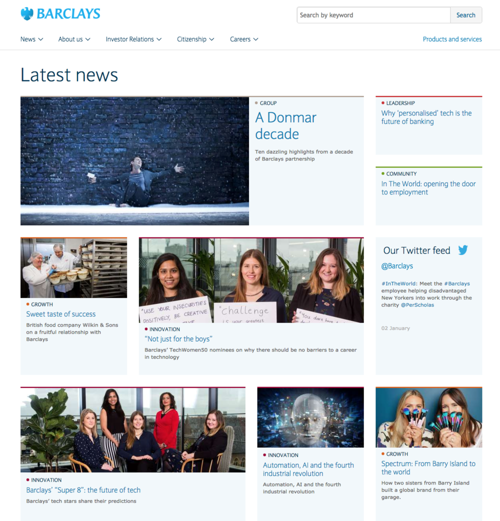 home.barclays news landing page
