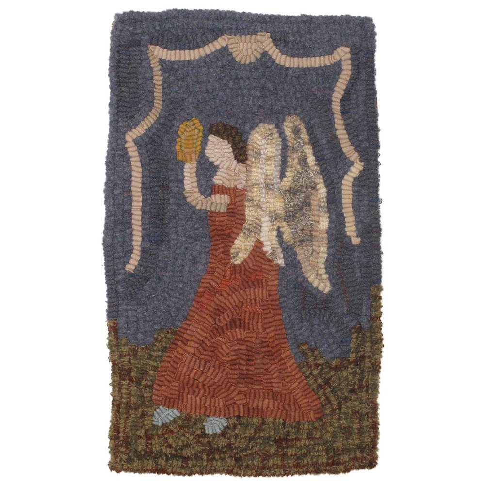Gentle Angel Hooked Rug